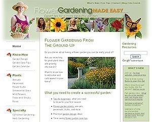 Flower gardening site